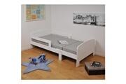 GENERIQUE Structure de lit toby lit évolutif enfant + matelas contemporain blanc - l 90 x l 140-200 cm
