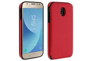 FORCELL Coque galaxy j3 2017 protection antichocs porte-carte forcell wallet rouge