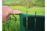 Jardideco 100 clips pour lanière largeur 43 mm - beige