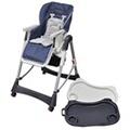 GENERIQUE Icaverne - chaises pour enfants superbe vidaxl chause haute pour bébés deluxe bleu foncé hauteur réglable