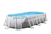 Intex Piscine tubulaire prism frame ovale 5,03 x 2,74 x 1,22 m - intex