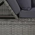 GENERIQUE Icaverne - lits d'extérieur superbe vidaxl canapé de jardin résine tressée 200 x 60 x 58 cm gris