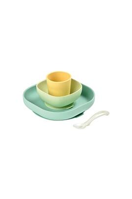 Beaba Set vaisselle silicone 4 pièces yellow