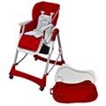 GENERIQUE Icaverne - chaises pour enfants superbe vidaxl chaise haute pour bébés bordeaux hauteur réglable