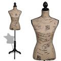 GENERIQUE Icaverne - valets de nuit superbe buste de couture mannequin de femme marron et noir jute