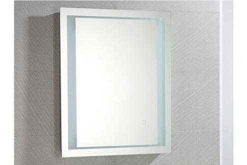Vente-unique Miroir de salle de bain lumineux rectangle à leds alesia - l60 x p3.5 xh70