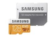 Samsung Samsung evo carte mémoire carte micro sd adaptateur sd 128 go sdxc u3 classe 10 uhs-i 100mo/s