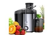 Mliter Mliter presse- agrumes extracteur de jus centrifugeuse pour fruits et legumes juicer 1500ml 65mm aj10b eu noir