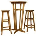 GENERIQUE Ensembles de meubles famille dodoma ensemble de bar 3 pcs bois d'acacia massif