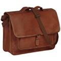 Vidaxl Sac pour ordinateur portable cuir véritable marron