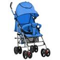 GENERIQUE Transport de bébés serie bichkek poussette/landau pliable 2-en-1 acier bleu