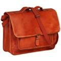 Vidaxl Sac pour ordinateur portable cuir véritable brun roux