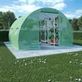 GENERIQUE Jardinage famille bridgetown serre avec fondation en acier 9 m² 300x300x200 cm