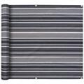 GENERIQUE Vie en extérieur ligne amman paravent de balcon tissu oxford 90 x 600 cm bande gris