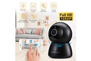 Floureon Floureon ip caméra moniteur pour bébé 1080p hd sans fil wifi caméra panoramique audio bidirectionnel vision nocturne surveillance à domicile avec détection de mouvement eu noir