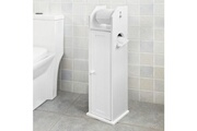 Sobuy Sobuy® support papier toilette armoir porte-papier toilettes porte brosse wc en bois - blanc frg135-w