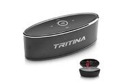 Tritina Haut-parleur sans fil hd son stéréo, commande tactile avec lumière de mode, bluetooth speaker micro intégré micro mains libres d'appels téléphoniques, fente pour carte tf et cable aux - noir