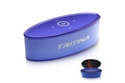 Tritina Haut-parleur sans fil hd son stéréo, commande tactile avec lumière de mode, bluetooth speaker micro intégré micro mains libres d'appels téléphoniques, fente pour carte tf et cable aux - bleu