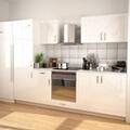 GENERIQUE Armoires et meubles de rangement categorie maputo ensemble d'armoires de cuisine 7 pcs avec hotte blanc brillant