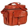 Vidaxl Sac pour appareil photo reflex numérique cuir brun roux