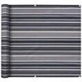 GENERIQUE Vie en extérieur gamme tokyo paravent de balcon tissu oxford 90 x 400 cm bande gris