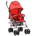 GENERIQUE Transport de bébés ensemble nairobi poussette/landau pliable 2-en-1 acier rouge