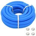 GENERIQUE Accessoires pour piscines et spas reference sri jayawardenapura tuyau de piscine avec colliers de serrage bleu 38 mm 12 m