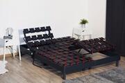 Idliterie Ensemble relaxation mémoire de forme + sommier avec réglage fermeté partout 2x80x200