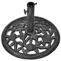 GENERIQUE Icaverne - supports pour parasols stylé socle de parasol en fonte 12 kg 48 cm