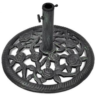GENERIQUE Icaverne - supports pour parasols chic socle de parasol en fonte 12 kg 48 cm