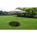 GENERIQUE Icaverne - supports pour parasols superbe socle de parasol 30 kg acier noir et ciment