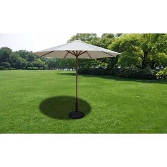 GENERIQUE Icaverne - supports pour parasols sublime socle de parasol 30 kg acier noir et ciment