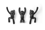 Umbra Patère murale en plastique noir avec (lot de 3) buddy