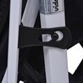 GENERIQUE Icaverne - poussettes pour bébés superbe vidaxl poussette 3-en-1 aluminium bleu et noir