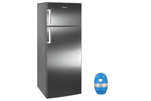 Candy Réfrigérateur frigo double porte inox 307l a+ froid brassé eclairage led ccds6172fxh