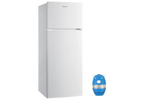 Candy Refrigerateur frigo double porte blanc 204l a+ froid statique grande capacité cmdds 5142 wh