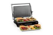 KLARSTEIN Buffalo grill de contact multifonction - presse à panini - 2000w - revêtement céramique - inox brossé noir