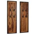 GENERIQUE Décorations gamme washington portemanteaux 2 pcs bois solide de sesham