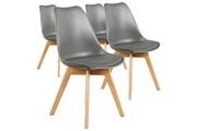 Giovanni Lot de 4 chaises storm gris