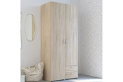 Maisonetstyles Armoire 2 portes et 2 tiroirs chêne sonoma - kelsy