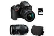 Nikon D3500 + 18-55 vr + tamron 70-300 di + sac + sd 4go