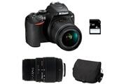 Nikon D3500 + 18-55 vr + sigma 70-300 dg macro + sac + sd 4go