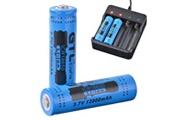 Xcsource 2pcs véritable gtl 18650 batterie 3.7v rechargeable li ion 12000mah rc992