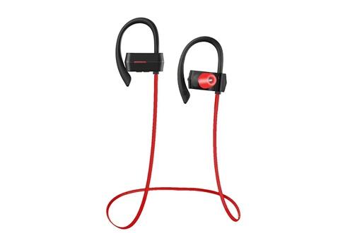 Tritina Casque sans fil microphone bluetooth 4.1 - casque sport stéréo bruit anti-bruit avec écouteurs en mousse de mémoire écouteur sportif antidérapant pour la course et le jogging - noir