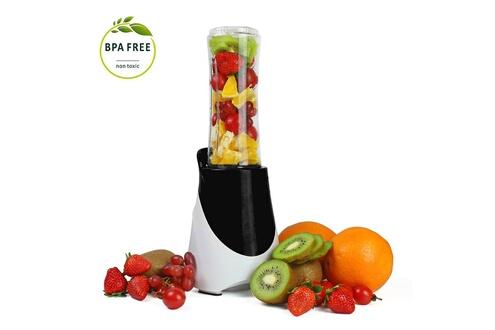 Leogreen Blender à jus et soupes, mixeur à smoothie, noir, avec bouteille de sport 600 ml, matériel de la tasse: plastique abs, sans bpa