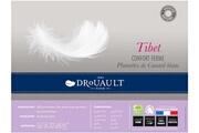 Drouault Oreiller anti acarien 65x65 naturel ferme enveloppe coton tibet