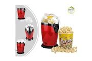 Leogreen Machine à popcorn maison, appareil à popcorn eléctrique, rouge, dimensions: 30,5 x 17 x 16,3 cm