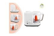 Leogreen Cuiseur à vapeur et mixeur pour bébé, robot de cuisine, blanc/gris, fonctions: 2 en 1 cuiseur vapeur et mélangeur