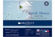 Drouault Oreiller 65x65 à mémoire de forme enveloppe en coton suprelle memory