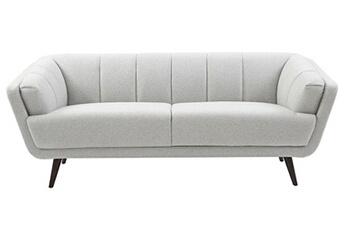 Canapé design 3 places tissus gris